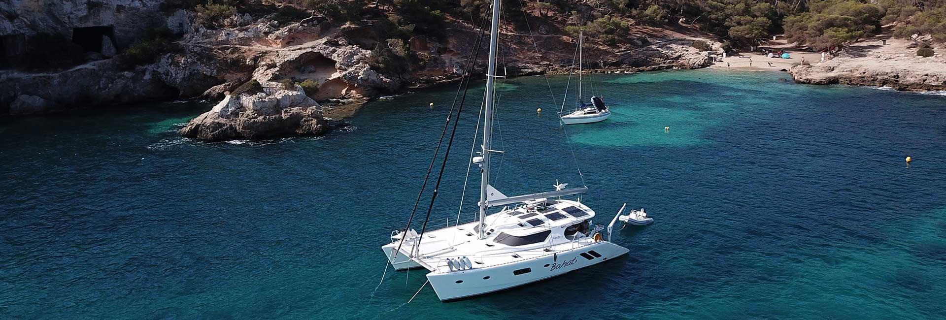 Yacht near the beach