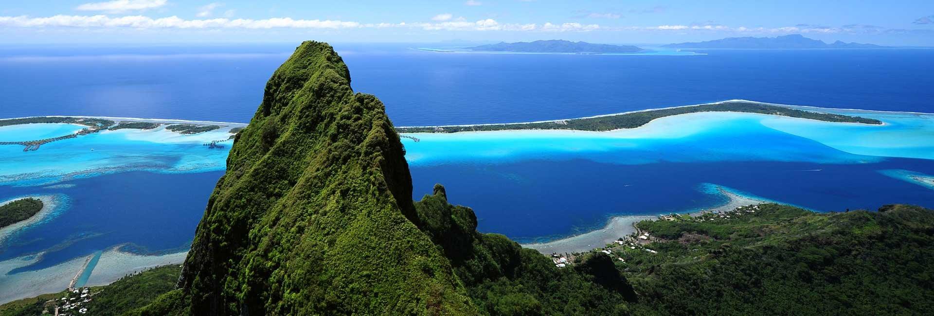 Mountain and ocean in Bora-Bora
