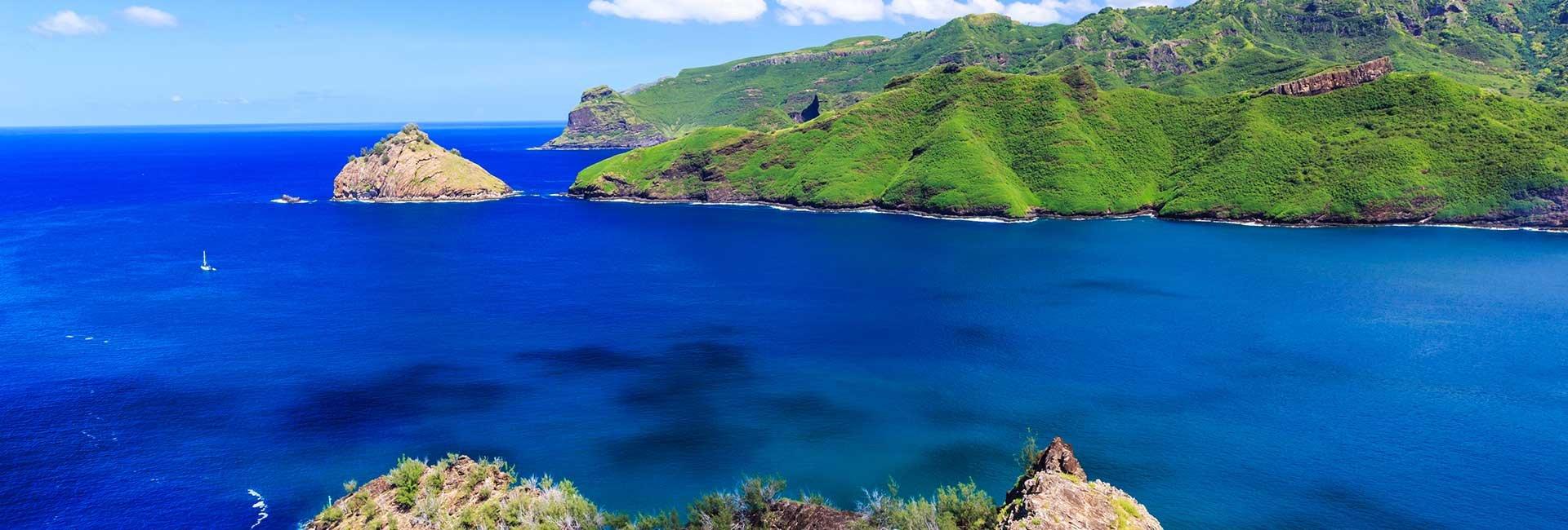 Blue ocean with islands