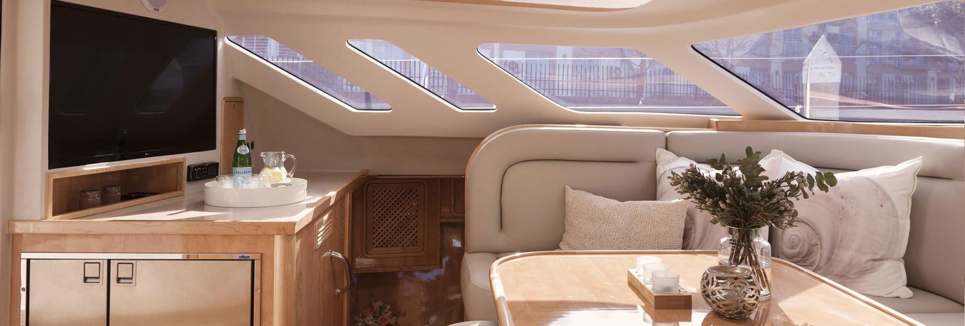Inside a Knysna Yacht