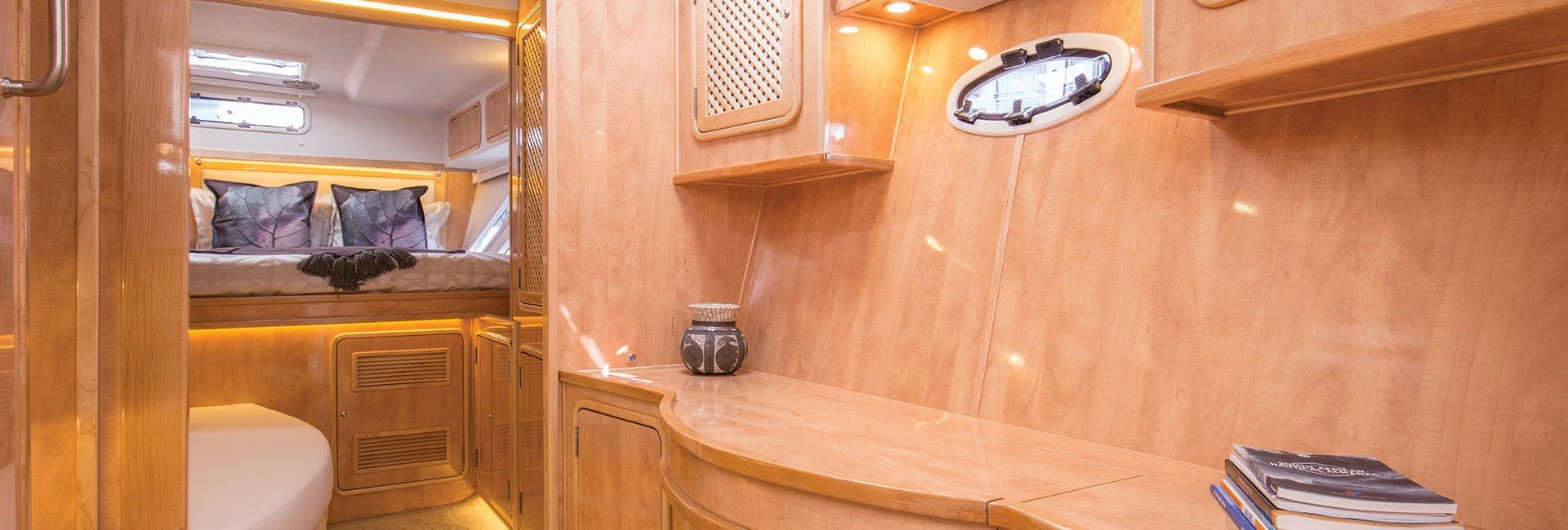 Luxury yacht inside
