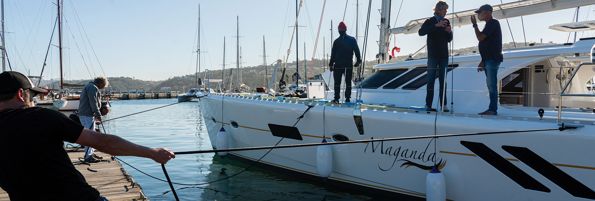 Docking a yacht