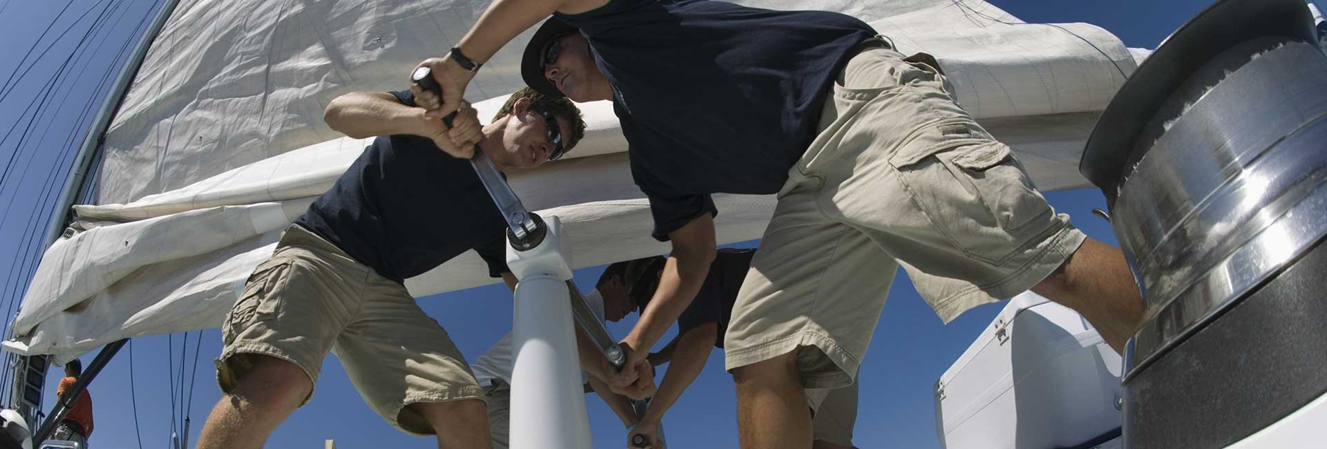 guys on a yacht