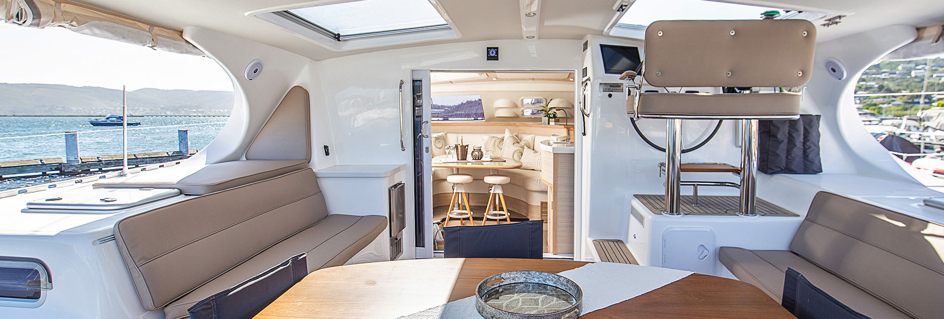 Outside area on yacht