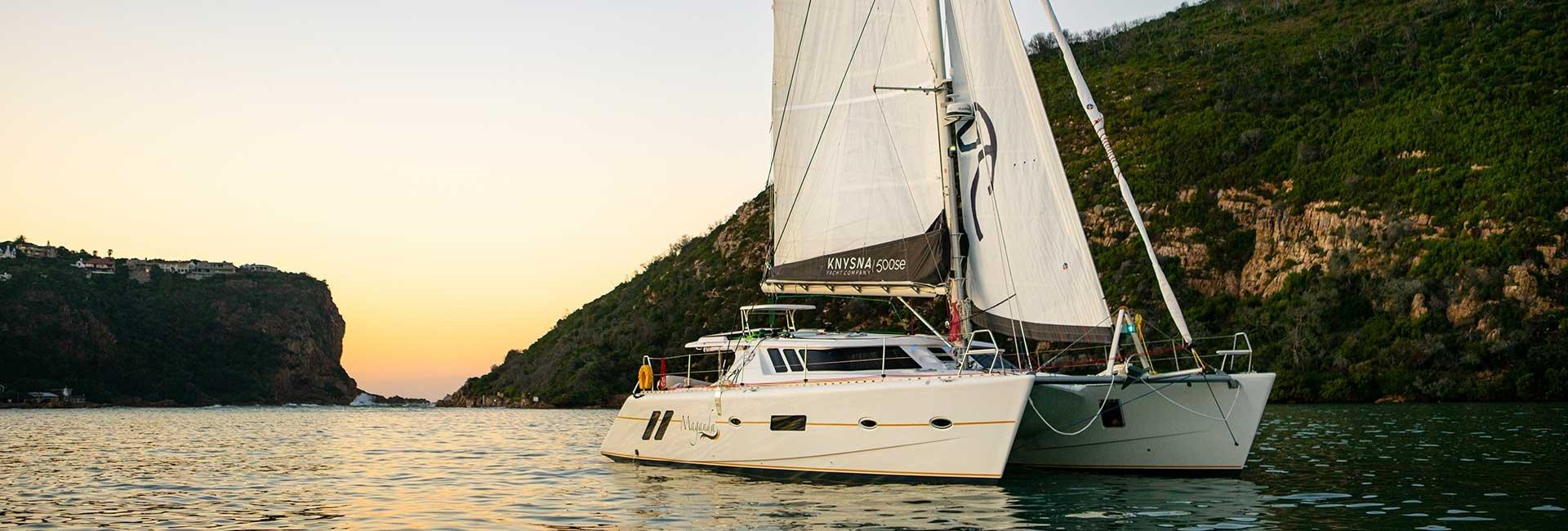 yacht in knysna