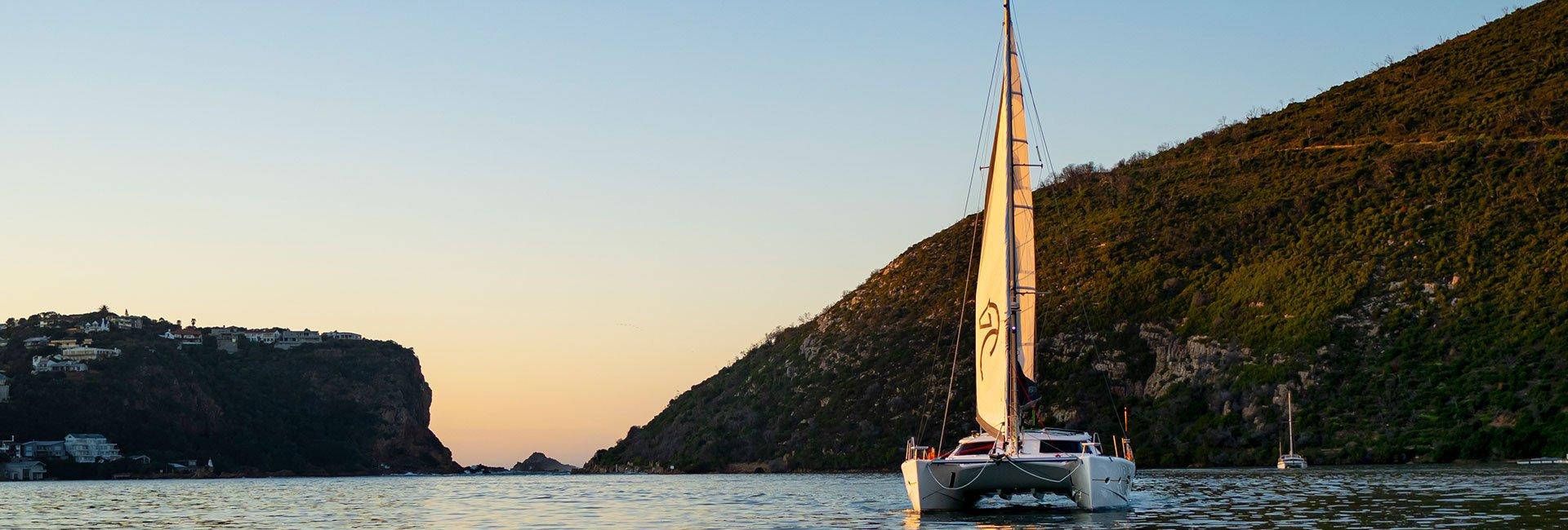 catamaran on lagoon