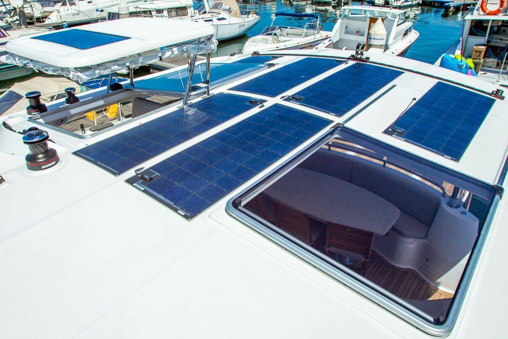 Solar Pannels on a yacht