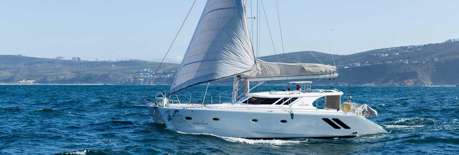 knysna yacht company catamaran on water