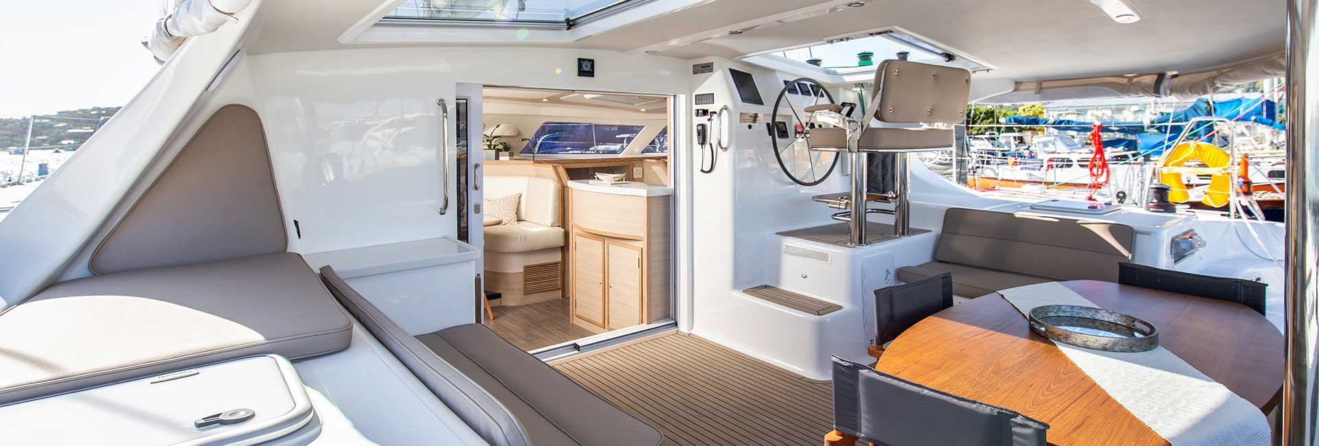 outside area of yacht