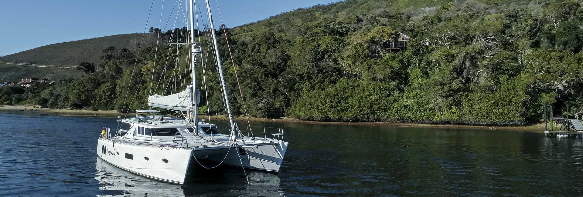 Knysna Yacht on the water