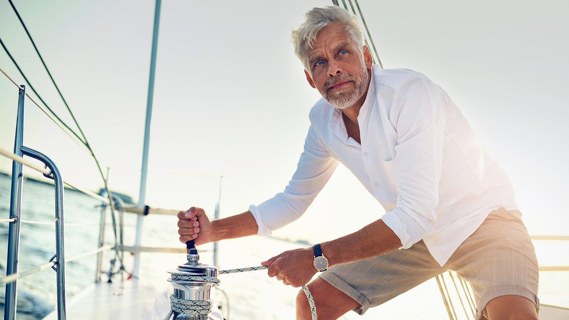 Guy on yacht
