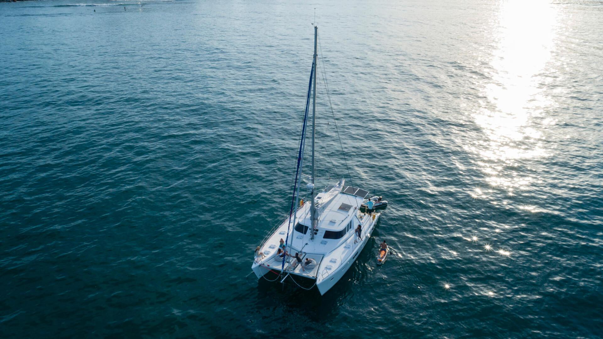 47th Catamaran out on the ocean