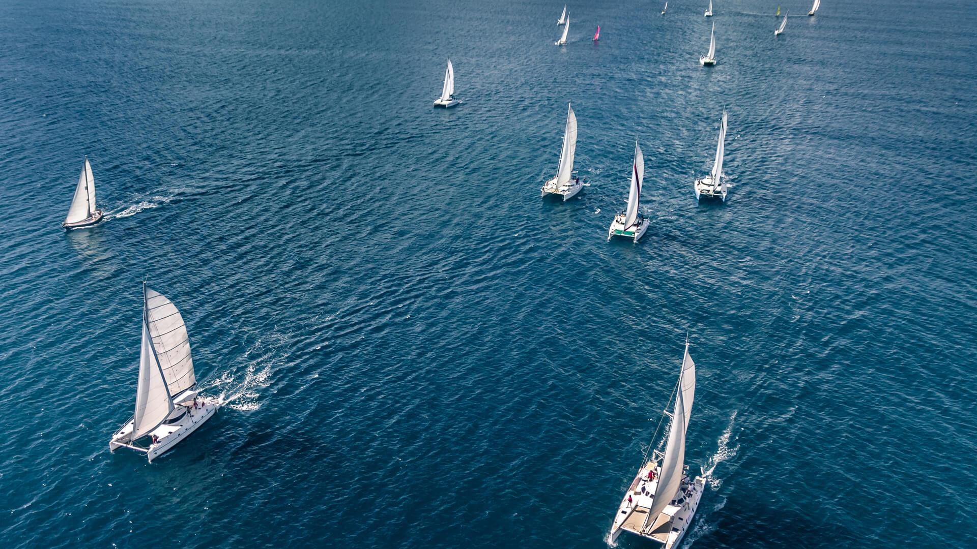 knysna 480 around other catamarans