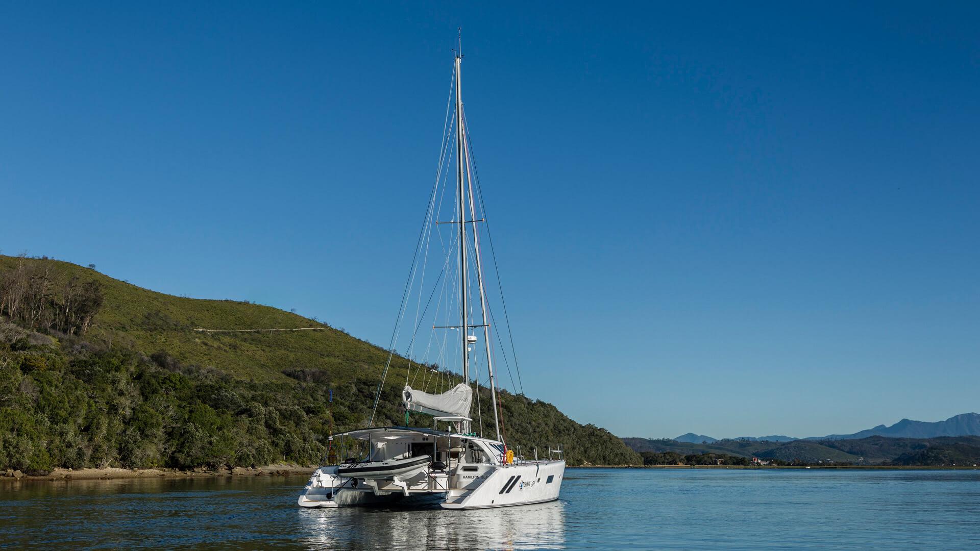 Knysna yacht in the knysna lagoon