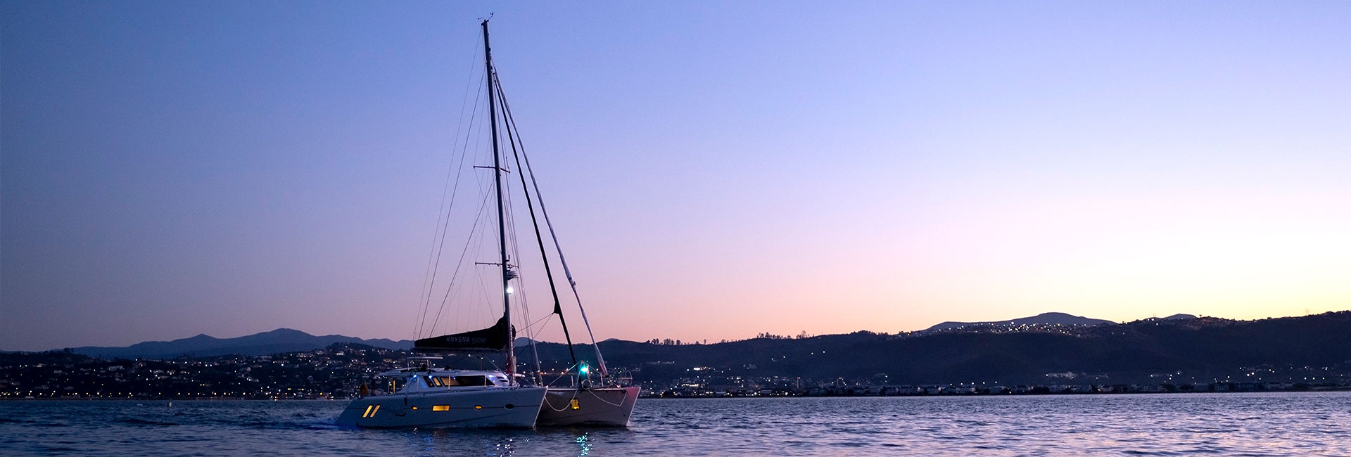 Yacht in sunset